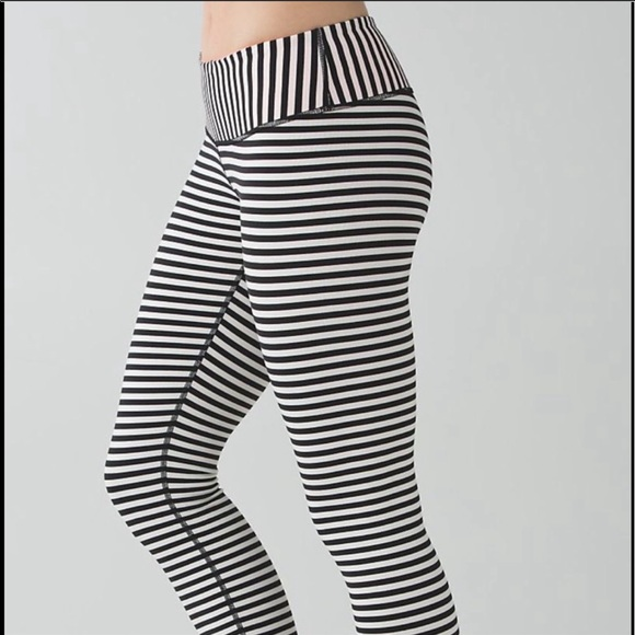 eec673f600 lululemon athletica Pants | Lululemon Stripped Leggings Size 4 ...